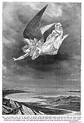 And I saw another angel fly ...'  'Bible': Book of Revelation XXIV 6,7. Wood engraving c1885.