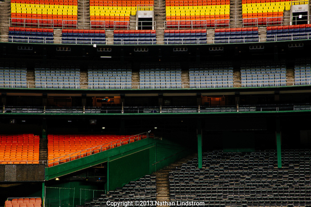 Houston Astrodome.<br /> Photographed by editorial photographer Nathan Lindstrom