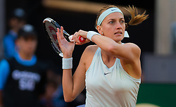May 4, 2019 - Madrid, MADRID, SPAIN - Petra Kvitova of the Czech Republic in action during her first-round match at the 2019 Mutua Madrid Open WTA Premier Mandatory tennis tournament (Credit Image: © AFP7 via ZUMA Wire)