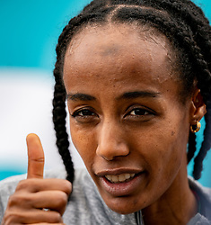 Worldrecord 10000 meters for Sifan Hassan during FBK Games 2021 on 06 june 2021 in Hengelo.