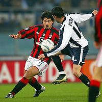 Roma 29/2/2004 Lazio Milan 0-1<br /> Gennaro Gattuso (Milan) and Stefano Fiore (Lazio)<br /> Photo Andrea Staccioli Graffiti