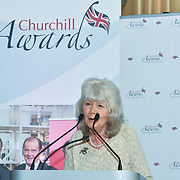Winner of  Literature – Jilly Cooper CBE of the 7th annual Churchill Awards honour achievements of the Over 65's at Claridge's Hotel on 10 March 2019, London, UK.