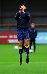 Ryan Sweeney of Mansfield Town warms up prior to kick-off- Mandatory by-line: Nizaam Jones/JMP - 24/10/2020 - FOOTBALL - Jonny-Rocks Stadium - Cheltenham, England - Cheltenham Town v Mansfield Town - Sky Bet League Two