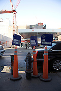 signs outside a carwash in New York City