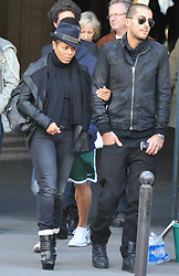 Janet Jackson and her boyfriend,Wissam Al Mana, strolling and shopping in Paris, France on October 16, 2010. Photo by ABACAPRESS.COM  | 248126_014