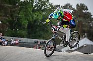 #218 (DA SILVA Ariel Joao) BRA during practice at Round 5 of the 2018 UCI BMX Superscross World Cup in Zolder, Belgium