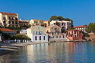 Assos Bay , Kefalonia; Greek Ionian Islands .<br /> <br /> Visit our GREEK HISTORIC PLACES PHOTO COLLECTIONS for more photos to download or buy as wall art prints https://funkystock.photoshelter.com/gallery-collection/Pictures-Images-of-Greece-Photos-of-Greek-Historic-Landmark-Sites/C0000w6e8OkknEb8
