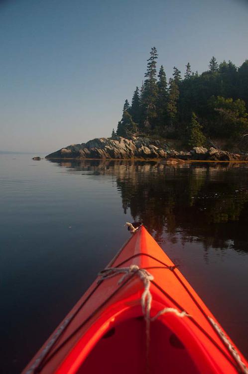 Kayaking Around Holbrook Island State Park, Holbrook Island, Maine, US
