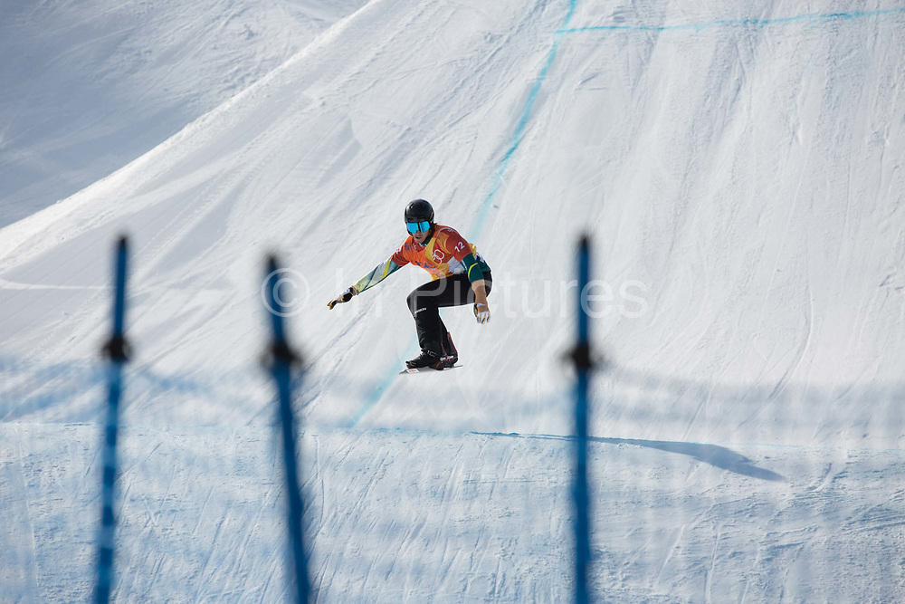 Mens boardercross semi-finlas at the Pyeongchang Winter Olympics on 15th February 2018 at Phoenix Snow Park in South Korea