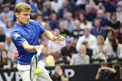 September 21, 2018 - Chicago, Illinois, United States - DAVID GOFFIN n action in the 2018 Laver Cup tennis event in Chicago. (Credit Image: © Christopher Levy/ZUMA Wire)