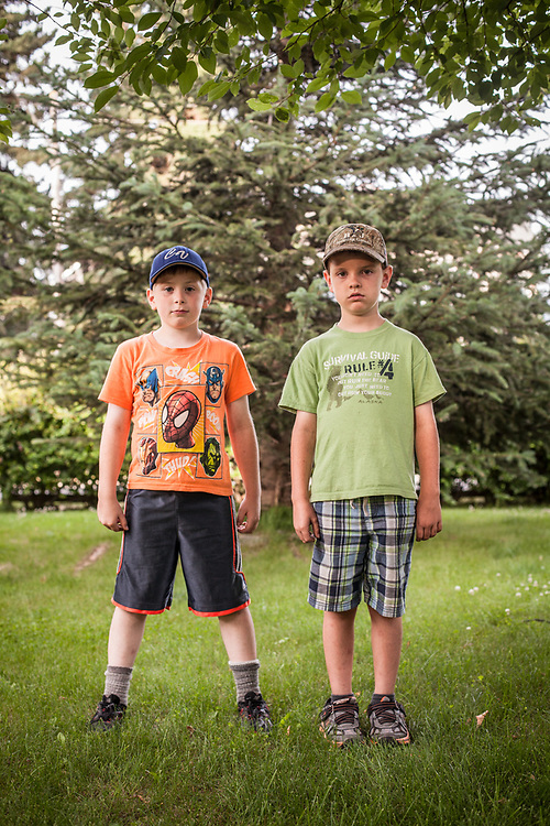 Eight year old friends, Landon and Landon, South Addition, Anchorage