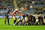 Greg Laidlaw heads off the join the Lions after the European Rugby Challenge Cup match between Gloucester Rugby and Stade Francais at BT Murrayfield, Edinburgh, Scotland on 12 May 2017. Photo by Kevin Murray.