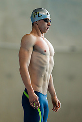 Ben Proud of Plymouth looks on before the Mens 50m Freestyle - Photo mandatory by-line: Rogan Thomson/JMP - 07966 386802 - 16/04/2015 - SPORT - SWIMMING - The London Aquatics Centre, England - Day 4 - British Swimming Championships 2015.