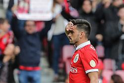 April 30, 2018 - Na - Lisbon, 04/28/2018 - Sport Lisboa e Benfica received this afternoon at the Estádio da Luz in Lisbon, CD Tondela in the 32nd matchday of the NOS Primera Liga, season 2017/2018. Pizzi celebrates goal 1-0  (Credit Image: © Atlantico Press via ZUMA Wire)