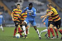 Kayode Odejayi. Stockport County FC 2-0 Bradford Park Avenue. Buildbase FA Trophy. 26.11.16