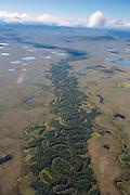 Aerial from flight from Bethel to Kisaralik Lake, Alaska.