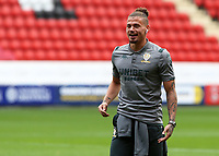 Leeds United's Kalvin Phillips is all smiles after arriving at The Valley<br /> <br /> Photographer David Shipman/CameraSport<br /> <br /> The EFL Sky Bet Championship - Charlton Athletic v Leeds United - Saturday 28th September 2019 - The Valley - London<br /> <br /> World Copyright © 2019 CameraSport. All rights reserved. 43 Linden Ave. Countesthorpe. Leicester. England. LE8 5PG - Tel: +44 (0) 116 277 4147 - admin@camerasport.com - www.camerasport.com