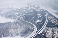 Luchtfoto Marnewaard - Lauwersmeergebied, deels in gebruik als militair oefenterrein