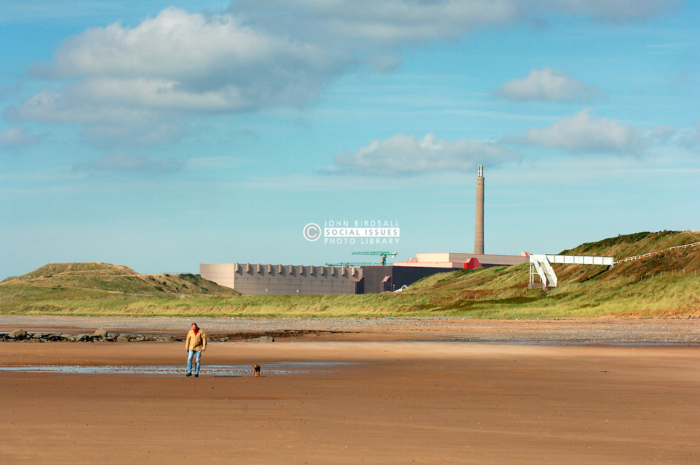 Sellafield nuclear reprocessing plant near village of Seascale; Cumbria UK