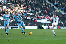 Milton Keynes Dons' Stephen Gleeson's shot goes wide - Photo mandatory by-line: Nigel Pitts-Drake/JMP - Tel: Mobile: 07966 386802 01/02/2014 - SPORT - FOOTBALL - Stadium MK - Milton Keynes - MK Dons v Tranmere Rovers - Sky Bet League One