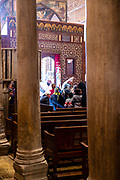Interior view of Saints Sergius and Bacchus Church, Kom Ghorab, Old Cairo, Egypt.