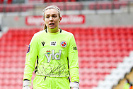 Reading goalkeeper Grace Moloney (1) during the FA Women's Super League match between Manchester United Women and Reading LFC at Leigh Sports Village, Leigh, United Kingdom on 7 February 2021.