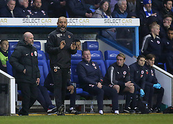 Wolves Manager Nuno Espirito shouts instructions to his players during the Sky Bet Championship match at the Madejski Stadium, Reading.