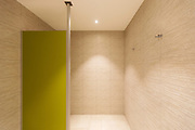 Spa shower in a private residence. Nobody inside