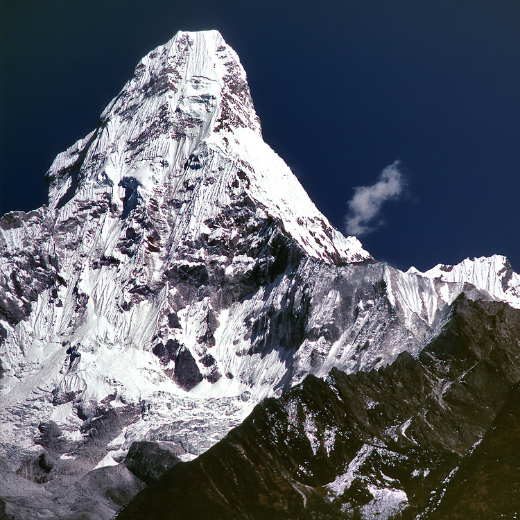 """Ama Dablam at 18,251 feet, means """"Mother and her Necklace"""" and is part of Sagarmatha, or Everest, National Park in Nepal."""