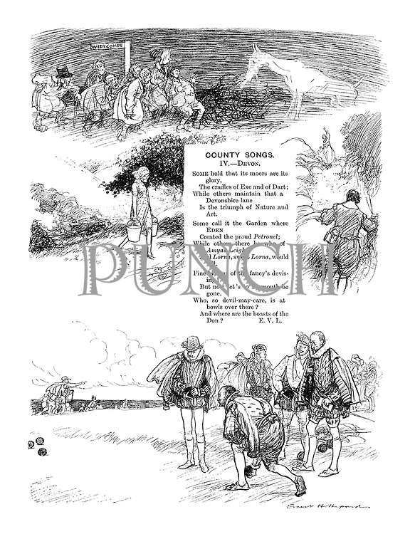 County Songs. IV. Devon. (Illustrated poem)