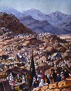 Pilgrims. Illustration by Etienne Dinet (1861-1929) for 'La Vie de Mohammed,  Prophete d'Allah' (The Life of Mohammed, Prophet of Allah).