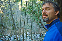 Portrait of hiker, Sykes Hot Springs, Big Sur, California.