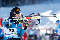Anais Chevalier-Bouchet of France competes during the IBU World Championships Biathlon Women's 7,5 km Sprint Competition on February 13, 2021 in Pokljuka, Slovenia. Photo by Primoz Lovric / Sportida
