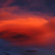 Lenticular clouds in western Montana.