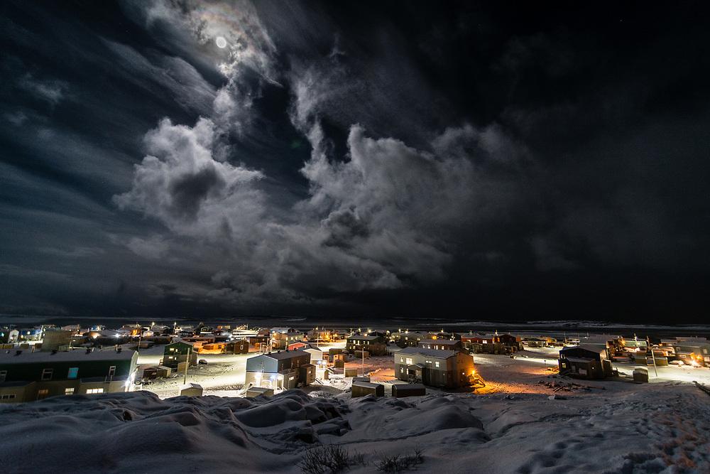 Inukjuak at night