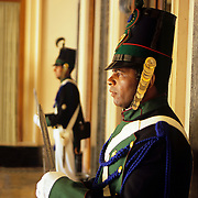 South America, Uruguay, Montevideo, Capitol building, guards in traditional uniform