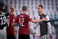 Cristiano Ronaldo during Juventus-Milan match for Italian Cup 2019/2020 at Juventus Stadium in Turin, Italy on June 12, 2020. The stadium behind closed doors for the covid-19 emergency. Photo by Riccardo Giordano/IPA/ABACAPRESS.COM