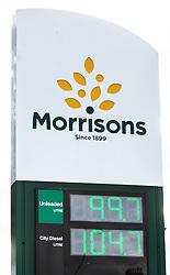 Morrisons Petrol Price 11 May 2020; Morrisons become the first UK retailer to cut the price of petrol below £1.<br /> <br /> (c) Chris McCluskie | Edinburgh Elite media