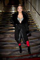 Lauren Halil, at the Fashion show organised by Helen Georgio from Buzz Talent for up and coming designers. Let It bee Mode showed diversity in the fashion industry. Connaught Rooms London. 16.02.20