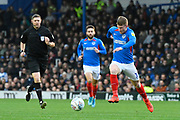 Andy Cannon (14) of Portsmouth on the attack during the EFL Sky Bet League 1 match between Portsmouth and Ipswich Town at Fratton Park, Portsmouth, England on 21 December 2019.