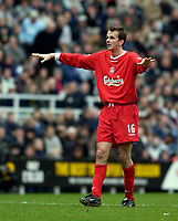 Photo. Jed Wee.<br /> Newcastle United v Liverpool, FA Barclaycard Premiership, St. James' Park, Newcastle. 06/12/03.<br /> Liverpool's former Newcastle player Dietmar Hamann was jeered by the crowd at his every touch.