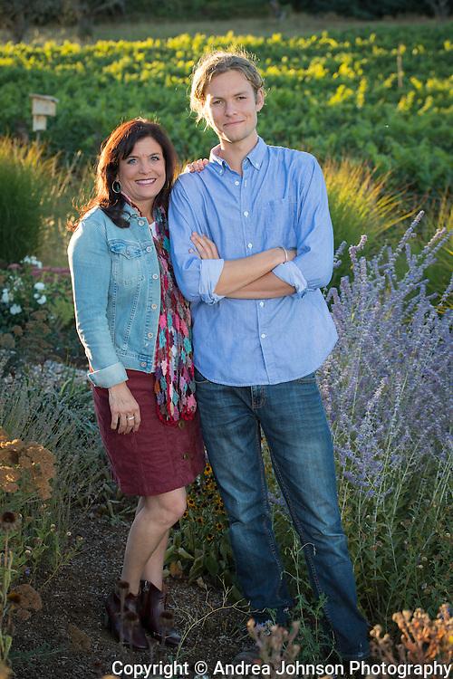 Pascal Brooks & Janie Brooks Heuck, Brook portraits, Eola-Amity Hills, Willamette Valley, Oregon