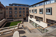 The Rose Place building & The Rokos Quad. Pembroke College, New Build on completion March 2013. Oxford, UK