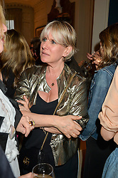 FIONA GOLFAR at a party to celebrate the publication of 'A Girl From Oz' by Lyndall Hobbs held at Flat 1, 165 Cromwell Road, London on 12th May 2016.