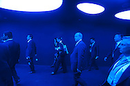 Delegation following the German President at the Theme Pavillon in Shanghai Expo 2010