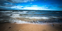 The Firth of Forth as seen from the beach at Longniddry.