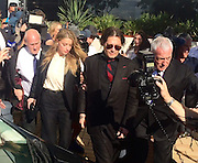 Johnny Depp and Amber Heard leaving Southport Court House after receiving good behaviour bond.<br /> ©Exclusivepix Media