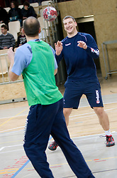 Miladin Kozlina at Open training session for the public of Slovenian handball National Men team before European Championships Austria 2010, on December 27, 2009, in Terme Olimia, Podcetrtek, Slovenia.  (Photo by Vid Ponikvar / Sportida)