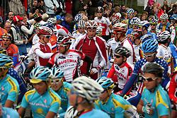 Peleton during the Men´s Under 23 Road Race on day five of the UCI Road World Championships on September 23, 2011 in Copenhagen, Denmark. (Photo by Marjan Kelner / Sportida Photo Agency)
