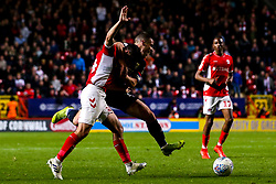 Tommy Rowe of Doncaster Rovers is fouled by Josh Cullen of Charlton Athletic - Mandatory by-line: Robbie Stephenson/JMP - 17/05/2019 - FOOTBALL - The Valley - Charlton, London, England - Charlton Athletic v Doncaster Rovers - Sky Bet League One Play-off Semi-Final 2nd Leg
